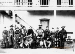 Lugo Family at Rancho in Bell, California, 1888
