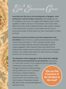 A text panel has a stripe of Victorian-era wallpaper to the left of a large body of text on a gray background. The text is for a museum exhibit, and the title of the text panel is